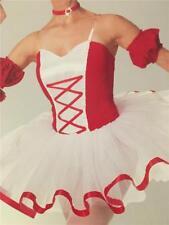 DANCE COSTUME BALLET TUTU RED WHITE OPENING NIGHT