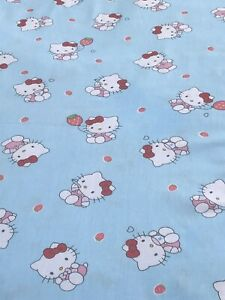 Very Cute Hello Kitty Cotton Fabric.Light Blue Color.Great Quality. BTY
