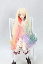 "BJD Doll Hair Wig 8-9"" 1/3 SD DZ DOD LUTS Multi Colors Mixed Long Curly Hair"
