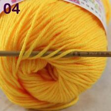 C New Fashion 1Skein x50g Cashmere Silk Wool Hand knitwear knitting Baby Yarn 04