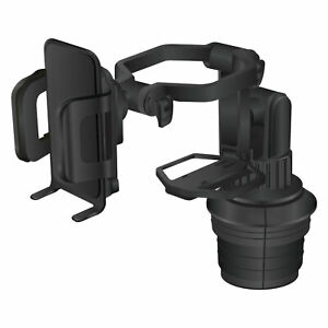 Adjustable Car Cup Holder Mount Built in Cup Holder 360° Rotation for All Phones