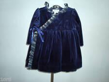 NWT RALPH LAUREN NAVY VELOUR WRAPAROUND DRESS SZ 9M