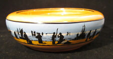 Porcelain Bowl made in England Depicts Fishermen, sailors & boats at seaside