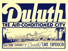 Duluth, Minnesota  MN   Vintage-Looking  Travel Decal/Luggage Label/Sticker