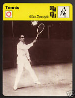 MAX DECUGIS French Tennis Player Photo 1979 SPORTSCASTER CARD 58-03