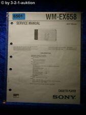 Sony Service Manual WM EX658 Cassette Player (#6501)