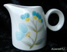 Vintage Noritake Pizzicato Blue Yellow Floral Creamer Small Pitcher 1977-1979