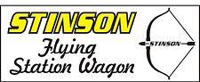 A075 Stinson Flying station wagon Airplane banner hangar garage Aircraft signs