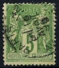 FRANCE 1898-1900 SG#283, 5 C VERT-JAUNE TYPE II utilisé #D50815