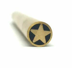 "STAR Mosaic Pin Inlay Custom Knife Making 1/4"" x 6"" Brass- 1 pin- MPST"