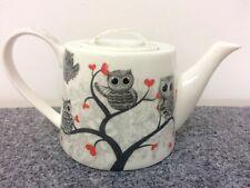 Teekanne vegan ohne Knochenasche Eulen Herz Brillantporzellan Kanne Kaffee Tee