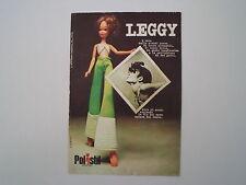 advertising Pubblicità 1975 BAMBOLA LEGGY POLISTIL