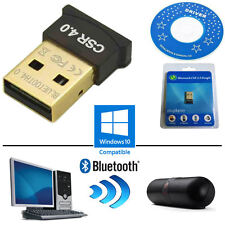 Bluetooth Adapter Dongle Wireless Mini USB v4.0 EDR CSR PC Laptop Windows 10 8 7
