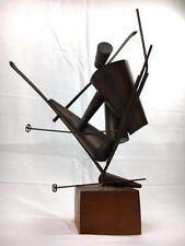 Homer Gunn - Very Rare Bronze Skier Modernist Sculpture New England Artist