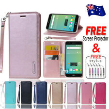 Hanman Luxury Wallet Leather Flip PU Case Cover For Telstra Signature 2