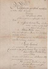 ANTIK Alte Handschrift Urkunde Kaufkontrakt 1824 Schleusingen