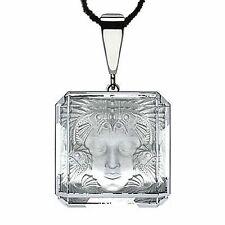 LALIQUE Arethuse Masque de Femme Revelation Crystal Pendant 925 Necklace NIB
