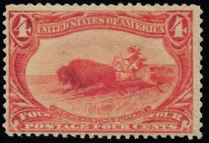 Scott #287 VF - 4c Orange - Indian Hunting Buffalo - MNH - 1898
