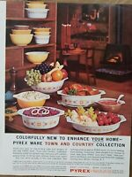 1963 Corning Pyrex Ware Town and Country collection dishes glassware vintage ad