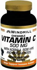 Windmill Vitamin C-500 Chewable Wafers 50 Tablets (Pack of 2)