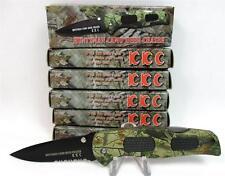 Wholesale Lot of 6 Huntsman Camo Deer Chaser Lockback Pocket Knives Knife A-3