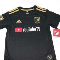 Adidas LAFC Los Angles FC MLS YouTube Soccer Jersey Boys Size 5/6 Medium