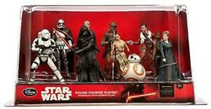 Disney Store Star Wars The Force Awakens Deluxe PVC Figurine 6 Figure Playset