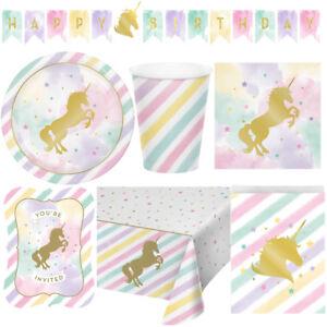 Goldenes Einhorn Kindergeburtstag Auswahl Deko Party Dekoration Geburtstag NEU