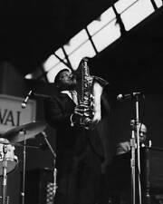 OLD PHOTO of MUSIC Illinois Jacquet Us Jazz Saxophonist Playing The Saxophone