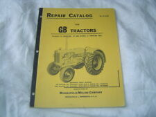 Minneapolis Moline Gb Gasoline Lp Gas Diesel Tractor Parts Catalog Manual Book