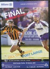 2007 GAA NHL Div I & II Finals Kilkenny v Waterford & Wicklow v Laois Programme