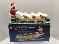 Vintage Santa Sleigh Party Server Ceramic 1984 -Ron Gordon Designs, Christmas