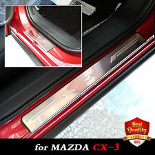 Stainless Stee door Sill Scuff Plate for MAZDA CX-3 2014-2017