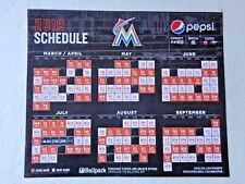 MIAMI MARLINS - 2018 SCHEDULE MAGNET OPENING DAY SGA SOUVENIR