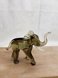 Glasfiguren Elefant Lauscha Tier Glas Rarität