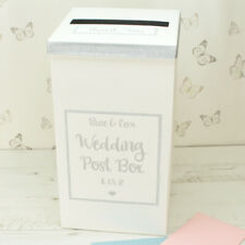 Personalised Silver Sparkle Glitter Wedding Card Post Box