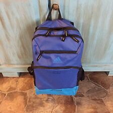 """New!! """"Water Resistant"""" Adidas Rumble Climaproof Blue on Blue Backpack!!!!!"""