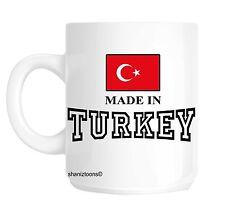 Made Born In Turkey Birthday Gift Mug shan591