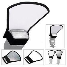 Blitz Diffusor Weiß/Silber Reflektor für Aufsteckblitz Canon Nikon Metz Yongnuo