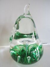 1973 WHEATON VILLAGE Glass MILLVILLE NJ BUBBLE PEAR Paperweight Wheatonware