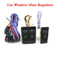 High Quality Universal Car Power Window Glass Lift Switch W/ Wiring Harness 12V