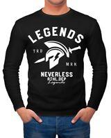 Cooles Herren Longsleeve Legends Sparta Gladiator Gym Athletics Sport Fitness