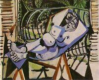 Pablo Picasso Painting Female Nude Near The Garden Femme Nue Devant Le Jardin