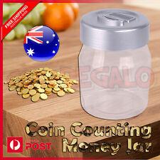 Aussie Coin Counting Money Jar Digital LCD Display Piggy OZ Coin Bank Box