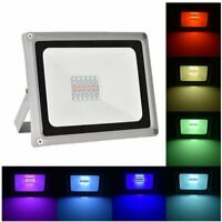 RGB 30W 50W 100W LED Flood Lights + Remote Control Color Security Changing