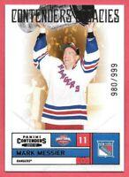 2011-12 Mark Messier Panini Contenders Legacies 980/999 - New York Rangers