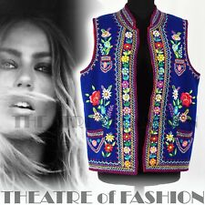 JACKET COAT WAISTCOAT 70s 60s INDIAN VINTAGE FOLK MEXICAN BOHO HIPPY EMBROIDERY
