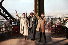 Funny Face Audrey Hepburn Fred Astaire Kay Thompson on Eiffel Tower Paris 11x17