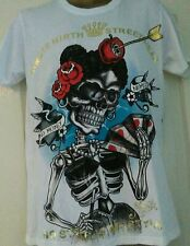 Shiroi Neko T shirt  Minute Mirth Tattoo Punk Goth Emo Medium BNWT White