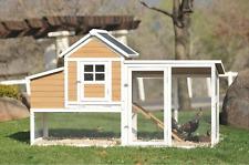 4-Chicken Coop w/ Egg Nesting Box Hen Cage Poultry Pen Victorian Teak Barn House
